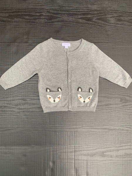 Fox Cardigan Grey