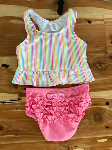 Rainbow Stripe Tankini