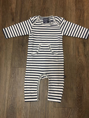 Chelsea Stripe Slim Leg Jumpsuit - Navy