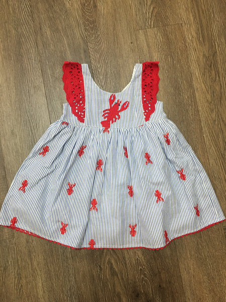 Lobster Embroidered Sun Dress