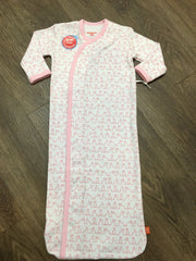 Pink Funny Bunnies Sack Gown
