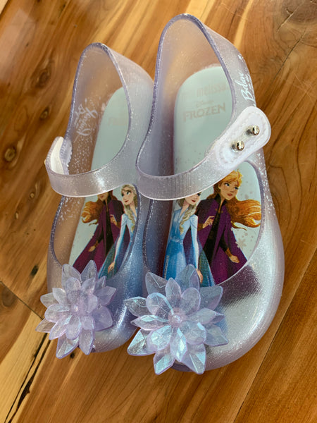 Mini Melissa Frozen Glass Glitter Shoes