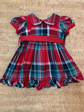Plaid Empire Dress