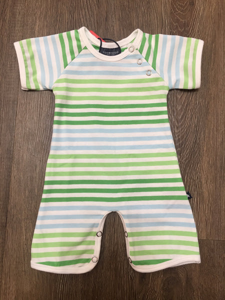 ToobyDoo Shortie Jumpsuit Green Stripe