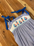 Sailboat Striped Romper