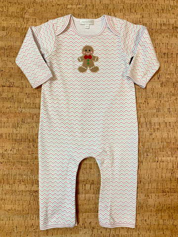 Gingerbread Applique Playsuit