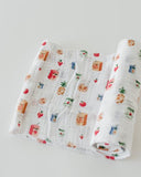 Cotton Muslin Swaddle Single - Juice Box