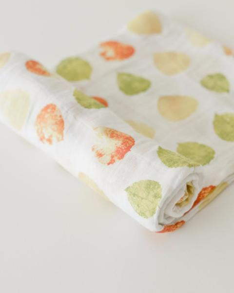 Cotton Muslin Swaddle Single -  Aspen Leaves
