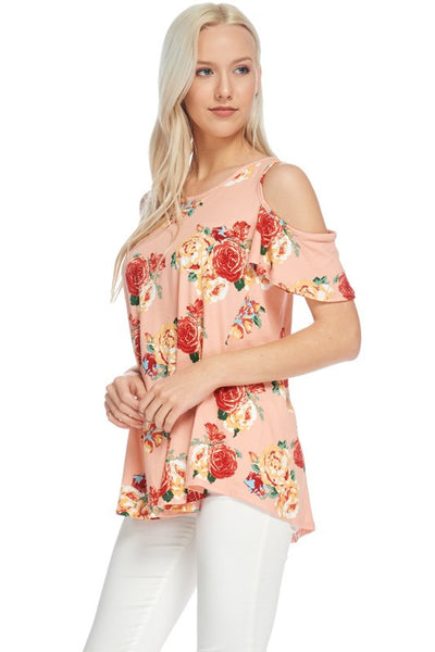Mom Cold Shoulder Floral Printed Tunic (Matching Mommy and Me)