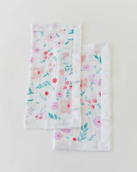 Cotton Muslin Security Blanket 2 Pack- Morning Glory