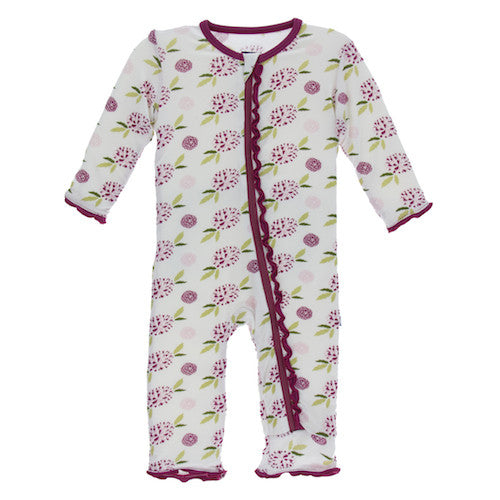 Natural Marigold Muffin Ruffle Coverall with Zipper