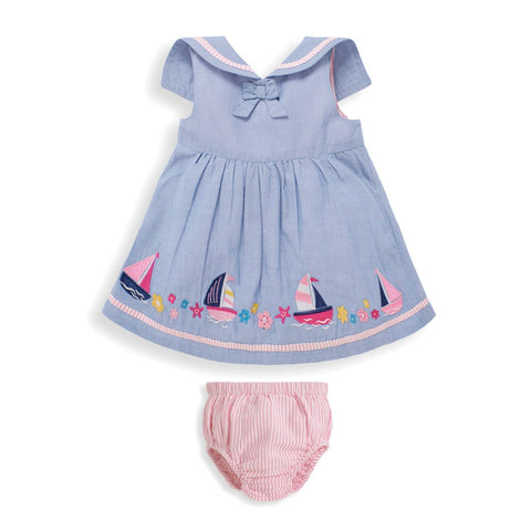 Nautical Dress with Bloomers