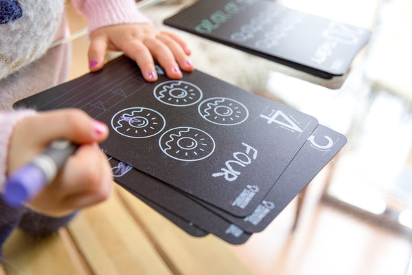 Chalkboard Numbers Flash Cards
