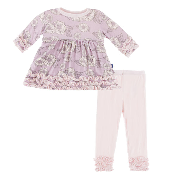 Sweet Pea Poppies Long Sleeve Baby Doll Set