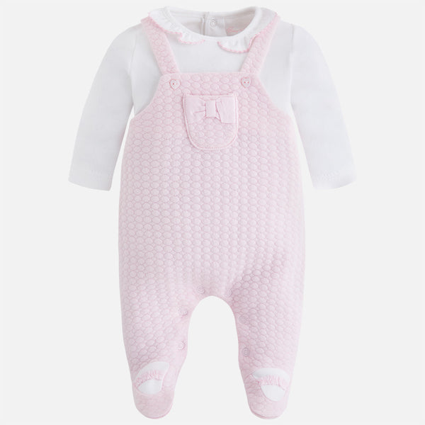 Baby Rose Knitted Overalls