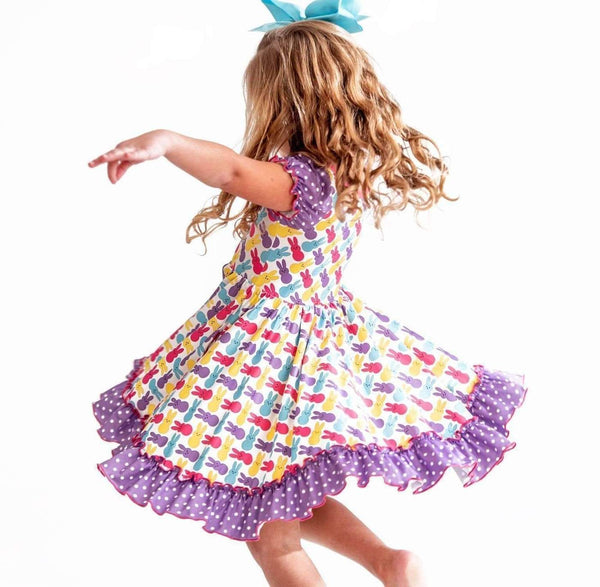 Peeps Easter Ruffle Hugs Collection Dress
