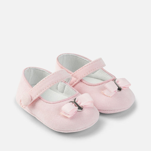 Pink Corduroy Mary Janes