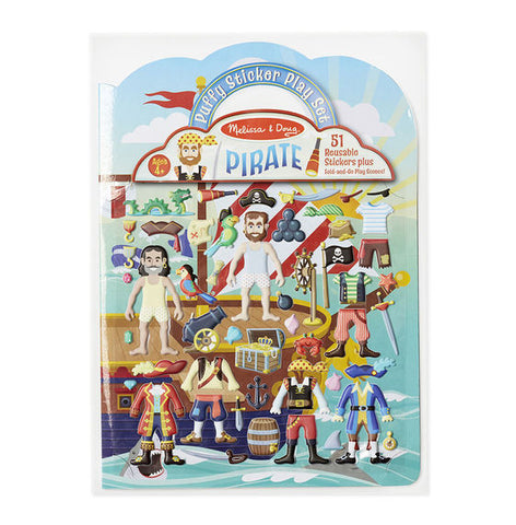 Puffy Sticker Playset-Pirate