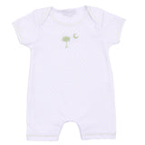 Palmetto Baby Embroidered Short Playsuit Celery