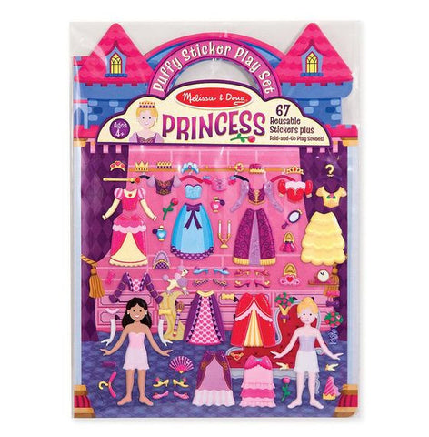 Puffy Sticker Playset-Princess 4-8Y