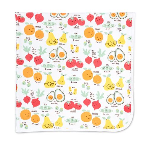Perfect Puns Organic Cotton Swaddle Blanket