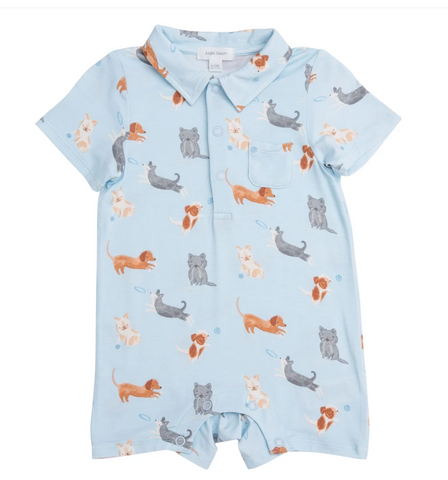 Puppy Play Polo Romper