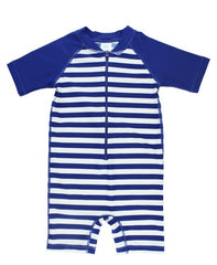 Blue Stripe One Piece Rash Guard