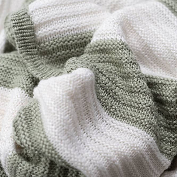 English Sage Knit Bamboo Blanket