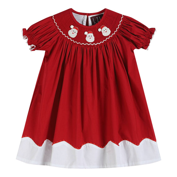 Santa Smocked Shift Dress