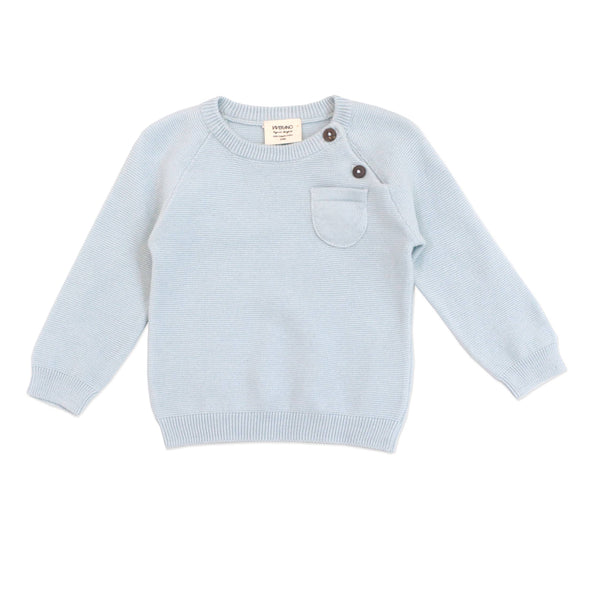 Sky Blue Pullover Sweater Knit