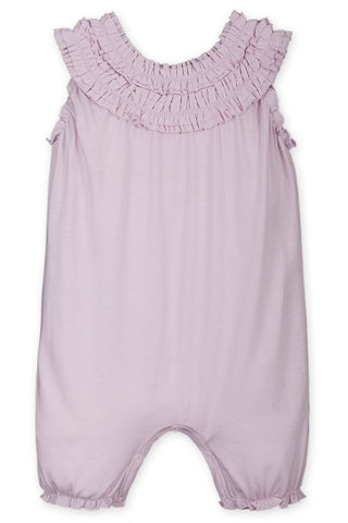 Soft Pink Double Ruffle Romper