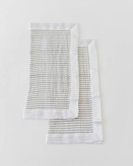 Cotton Muslin Security Blanket 2 Pack- Grey Stripe