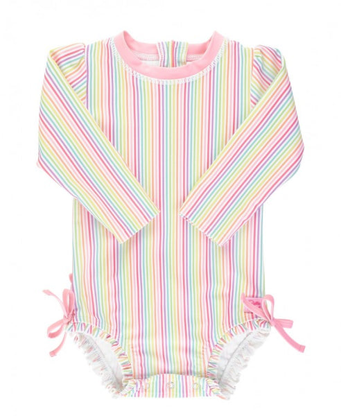 Rainbow Stripe One Piece Rashguard