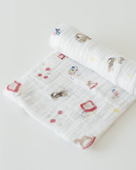 Cotton Muslin Swaddle Single - Toy Box