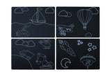 Transportation Chalkboard Mat - 4 Count