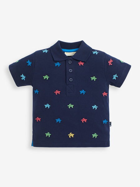 Turtle Embroidered Polo Shirt
