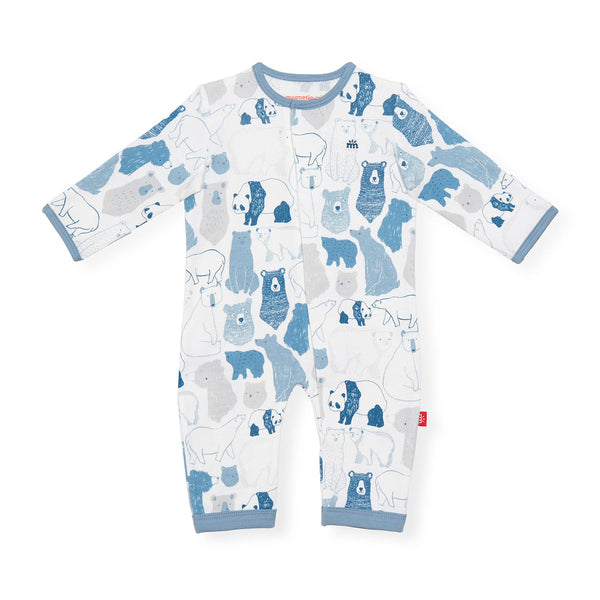 Unbearably Cute Organic Cotton Magnetic Coverall