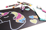 Unicorn Chalkboard Mats - 4 Count
