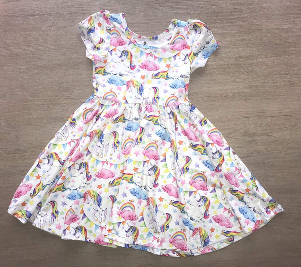 Summer Unicorn Rainbow Dress