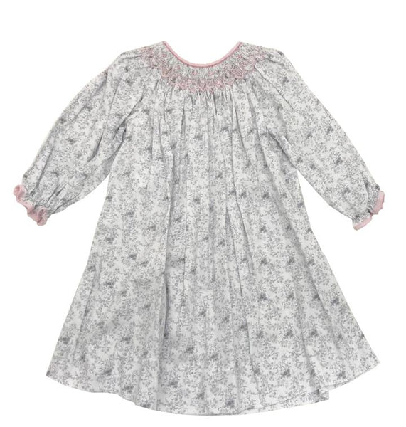 Floral Pearl Smocked Dress
