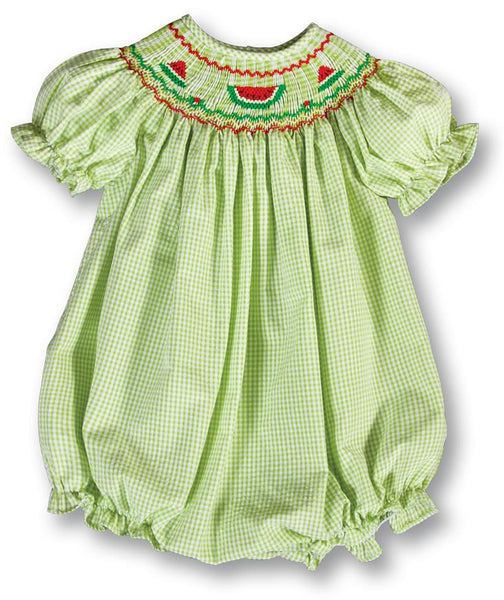 Watermelon Smocked Bubble