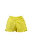 Susie Scallop Shorts Yellow