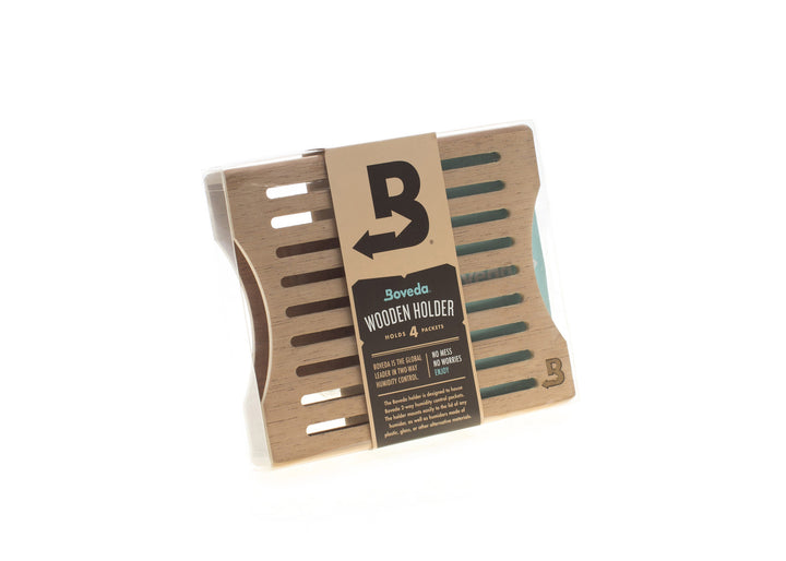BOVEDA Wooden 4-device holder (side by side)