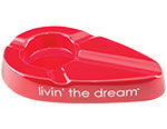 Xikar - Livin' The Dream Red ceramic ashtray