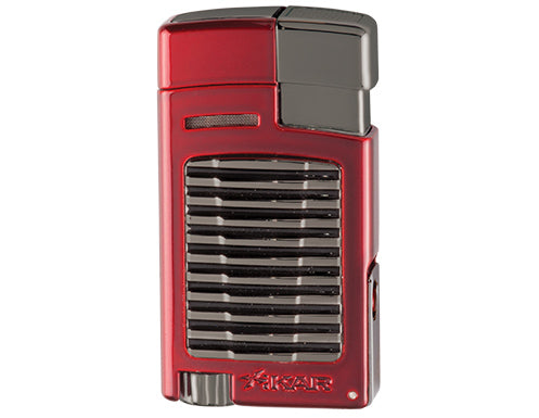 Xikar - Forte Red w/G2 gunmetal trim Single Jet Flame cigar lighter
