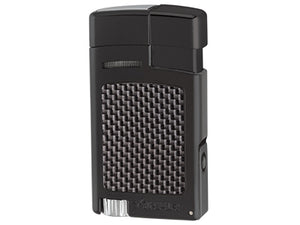 Xikar - Forte Black Carbon Fiber Single Jet Flame cigar lighter
