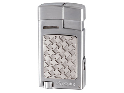 Xikar - Forte Soft Flame cigar & pipe lighter (Silver Houndstooth)