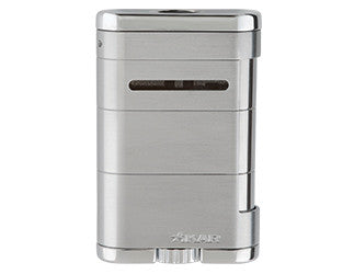 Xikar - Allume Silver Tabletop Jet Flame cigar lighter