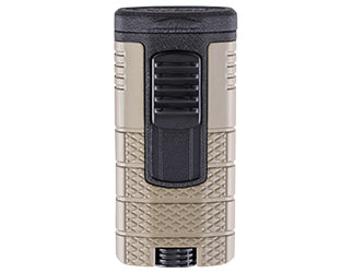 Xikar - Tactical Tan and Black Triple-flame cigar lighter