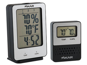Xikar - PuroTemp Wireless Hygrometer System (base and one remote sensor)